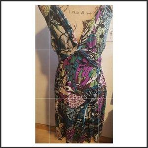 Beautiful printed halter dress.